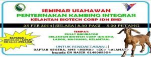 Seminar Usahawan Penternakan Kambing Integrasi (ws)